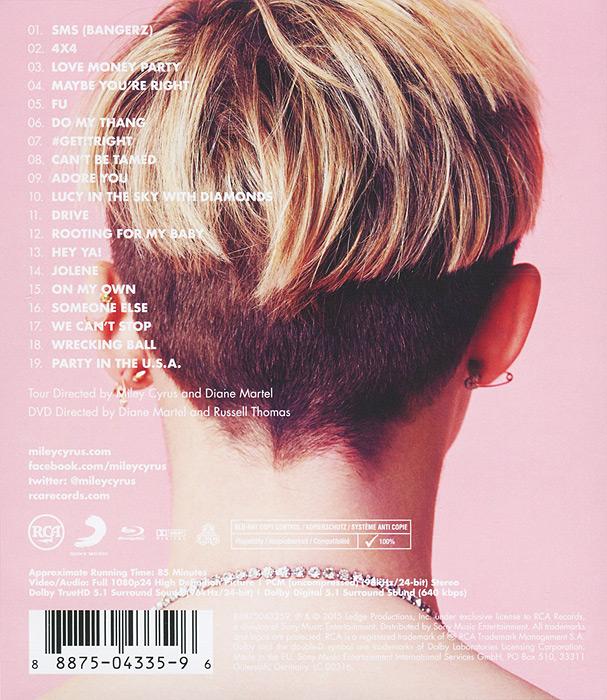 Miley Cyrus:  Bangerz Tour (Blu-ray) RCA