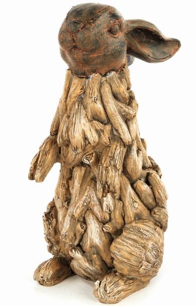 Фигурка декоративная Premier Кролик, высота 29 смBA131364Фигурка декоративная Premier Кролик прекрасно подойдет для садового декора и украшения помещений. Фигурка выполнена из полистоуна в виде кролика, стоящего на задних лапках. Материал изделия отличается прочностью и износостойкостью, устойчивостью к влаге и жаре, цвета не тускнеют на солнце. Такая фигурка долгое время будет украшать ваш сад.