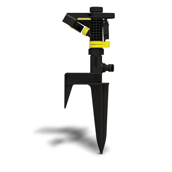 Дождеватель импульсный Karcher PS 300. 2.645-023.02.645-023.0Импульсный разбрызгиватель Karcher PS 300 используется для орошения земельных участков. Прочный штырь обеспечивает простоту и удобство фиксации распылителя на неровной поверхности. Имеет большой сектор орошения вокруг себя (360°). Возможна регулировка угла разбрызгивания, что обеспечивает качественный полив под деревьями и кустарниками. Площадь импульсного секторно-кругового дождевателя в 3 раза больше осциллирующих.Зона орошения: при 2 барах диаметр полива 25 м, площадь полива 490 м2; при 4 барах диаметр полива 30 м, площадь полива 706 м2.Установка: на пике.