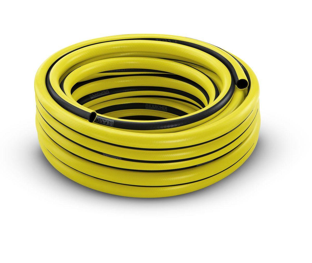 Шланг Karcher PrimoFlex, 3/4, 25 м. 2.645-142.02.645-142.0Шланг PrimoFlex Karcher 2.645-142 предназначен для подведения воды к месту полива. При обычном повседневном использовании в саду прослужит не менее 12 лет. Он армирован специальным материалом, выдерживающим давление до 24 бар, устойчив к УФ-излучению и температурам до +65°С. Прочен, безопасен за счет отсутствия в составе кадмия, бария и свинца, вредных веществ, фталатов и вторичного сырья. Шланг устойчив к перегибам. Имеет 3-х слойное изготовление. Промежуточный слой является светонепроницаемым и предотвращает рост водорослей в шланге. Удобен в обращении, стоек к воздействиям внешней среды. Шланг крепится к крану с помощью штуцера. Штуцер приобретается отдельно. Диаметр 3/4 дюйма.Максимальное давление: 24 бар.Рабочая температура: от -20°С до +65°С.