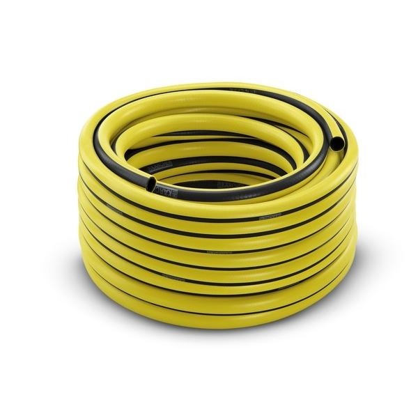 Шланг Karcher PrimoFlex, 3/4, 50 м. 2.645-143.02.645-143.0Шланг PrimoFlex Karcher 2.645-143 предназначен для подведения воды к месту полива. При обычном повседневном использовании в саду прослужит не менее 12 лет. Он армирован специальным материалом, выдерживающим давление до 24 бар, устойчив к УФ-излучению и температурам до +65°С. Прочен, безопасен за счет отсутствия в составе кадмия, бария и свинца, вредных веществ, фталатов и вторичного сырья. Шланг устойчив к перегибам. Имеет 3-х слойное изготовление. Промежуточный слой является светонепроницаемым и предотвращает рост водорослей в шланге. Удобен в обращении, стоек к воздействиям внешней среды. Шланг крепится к крану с помощью штуцера. Штуцер приобретается отдельно. Диаметр 3/4 дюйма.Максимальное давление: 24 бар.Рабочая температура: от -20°С до +65°С.