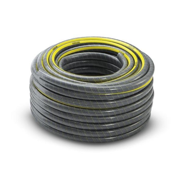 Шланг Karcher PrimoFlex plus, 3/4, 50 м 2.645-149.02.645-149.0Высококачественный трехслойный садовый шланг с особо прочной, усиленной инновационными желтыми нитями KEVLAR армирующей оплеткой. При интенсивном использовании с высокими нагрузками по давлению шланг прослужит не менее 15 лет.Не содержит вредных веществ, фталатов и вторичного сырья.Максимальное давление: 35 бар.Рабочая температура: от -20°С до +65°С.