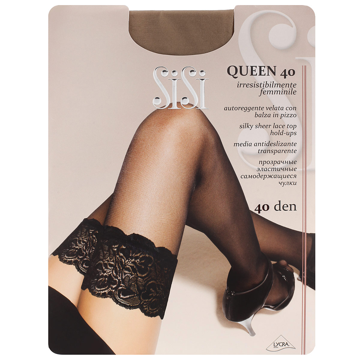 Чулки женские Sisi Queen 40, цвет: телесный. SNL-019805. Размер 4 чулки seven til midnight большого размера с кружевной резинкой xl телесный