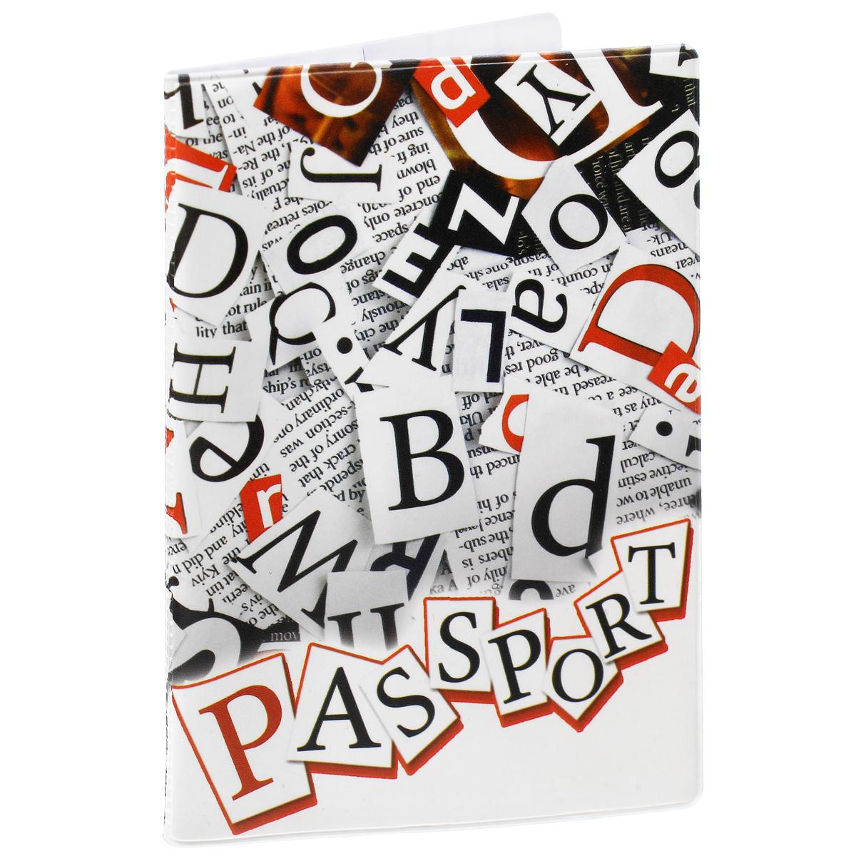 Обложка для паспорта Буквы, цвет: белый, черный, красный. 3773337733Обложка для паспорта Буквы не только поможет сохранить внешний вид ваших документов и защитить их от повреждений, но и станет стильным аксессуаром, идеально подходящим вашему образу. Обложка выполнена из поливинилхлорида и оформлена оригинальным изображением букв английского алфавита. Внутри имеет два вертикальных кармана из прозрачного пластика. Такая обложка поможет вам подчеркнуть свою индивидуальность и неповторимость!