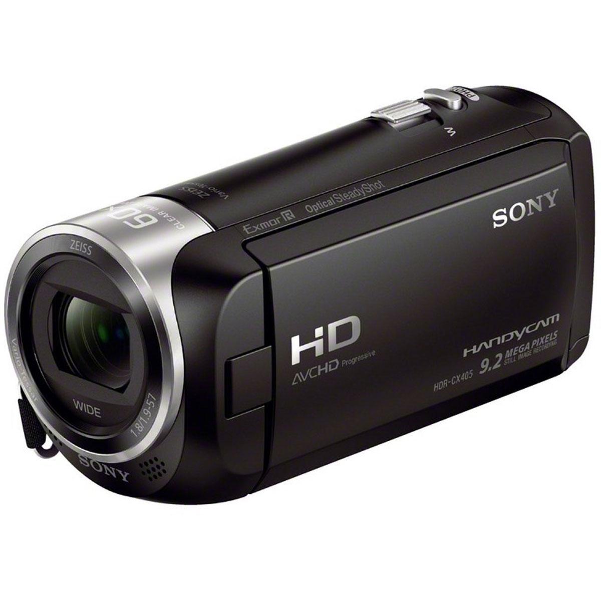 Sony HDR-CX405B видеокамераHDRCX405B.CELВидеокамера Sony HDR-CX405B с возможностью записи в форматах HD и XAVC S и технологией стабилизации изображения Optical SteadyShot.Оптический стабилизатор Optical SteadyShot с интеллектуальным активным режимом:Усовершенствованная стабилизация изображения обеспечивает четкость записи даже при отсутствии устойчивости камеры при съемке.Широкоугольный объектив до 26,8 мм:Если вы снимаете видео или занимаетесь фотосъемкой, лучший в своем классе широкоугольный объектив дает больше возможностей при съемке пейзажей и сцен внутри помещения, когда у вас недостаточно места, чтобы отступить назад. Даже без широкоугольной насадки на объектив некоторые видеокамеры снимают на фокусном расстоянии 26,8 мм (при соотношении сторон изображения 16:9) в режиме видео.Motion Shot Video:Режим MotionShot Video позволяет воспроизвести серию наложенных изображений, проследить динамику движения объекта съемки в каждой фазе и внимательно проанализировать все в деталях. Во время воспроизведения вы можете регулировать интервал или приостановить воспроизведение, чтобы извлечь кадр и поделиться фотографией.Встроенный USB-кабель:Встроенный USB-кабель, уложенный в наручный ремешок, очень удобно использовать для быстрой зарядки и подключения к компьютеру, поэтому нет необходимости носить с собой громоздкий дополнительный USB-кабель или адаптер переменного тока. Для зарядки без компьютера используйте компактный адаптер AC-USB (дополнительно).Процессор обработки изображений BIONZ X:Усовершенствованный процессор изображений BIONZ X помогает добиться реалистичности и точной передачи изображения, а также обеспечивает возможность более быстрой обработки.Объектив ZEISS:Разделяя стремление к непревзойденной производительности и выдающейся инженерной мысли, Sony и Carl Zeiss совместно разрабатывают объективы, которые сочетают в себе все лучшие возможности оптики с высококачественной электроникой и технологиями матрицы для камер Handycam от Sony.Функция одновременной запис