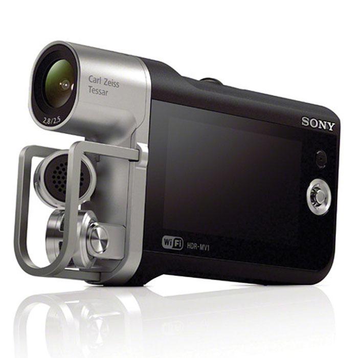 Sony HDR-MV1 видеокамераHDRMV1B.E35Устройство записи звука для видео Sony HDR-MV1.Аудиоформаты PCM и AAC обеспечивают удобство и универсальность:Запись звука в формате несжатого линейного PCM (LPCM) или AAC с высоким CD-качеством для быстрой загрузки.Широкоугольный объектив 120° Carl Zeiss Tessar:Широкоугольный объектив Carl Zeiss Vario-Tessar с углом обзора 120° не только позволяет делать высококачественное видео с потрясающим разрешением, контрастом и цветопередачей, но и уместить в кадре всю выступающую группу, даже с небольшого расстояния. Идеально подходит для любых сюжетов - от репетиций до живых концертов.Матрица Exmor R CMOS идеально подходит для съемки в условиях низкой освещенности:Благодаря чрезвычайно чувствительной матрице Exmor R CMOS Sony вы можете уловить выражения лиц и быстрые движения даже в темных помещениях (например, в студиях или на сценах).Глубокий стереозвук благодаря микрофону 120° X/Y:Широкоугольная конфигурация микрофона (120°) видеокамеры HDR-MV1 позволяет записывать стереозвук и, в отличие от смартфонов и традиционных видеокамер, дает возможность записать буквально каждую музыкальную ноту во время концерта, даже когда вокруг полно народа. Кроме того, запись идет с фокусом на центр, поэтому, все, что споет и скажет вокалист, будет записано.Технологии NFC/Wi-Fi позволяют осуществлять передачу данных в одно касание:В видеокамере HDR-MV1 реализованы технологии Wi-Fi и NFC One Touch, которые дают возможность подключаться к смартфонам и планшетникам.3 Вы можете мгновенно загружать отснятый видеоматериал в Интернет и показать друзьям то, что сняли на концерте, еще до того, как он закончится. Технологии Wi-Fi/NFC могут также сделать из вашего мобильного устройства пульт дистанционного управления и монитор для видеокамеры HDR-MV1. Это особенно удобно для компоновки кадров.Идеальное воспроизведение с помощью функции фонограммы:Совмещение изображения и звука. При передаче изображения на другие устройства функция фонограммы регулирует звук в камере