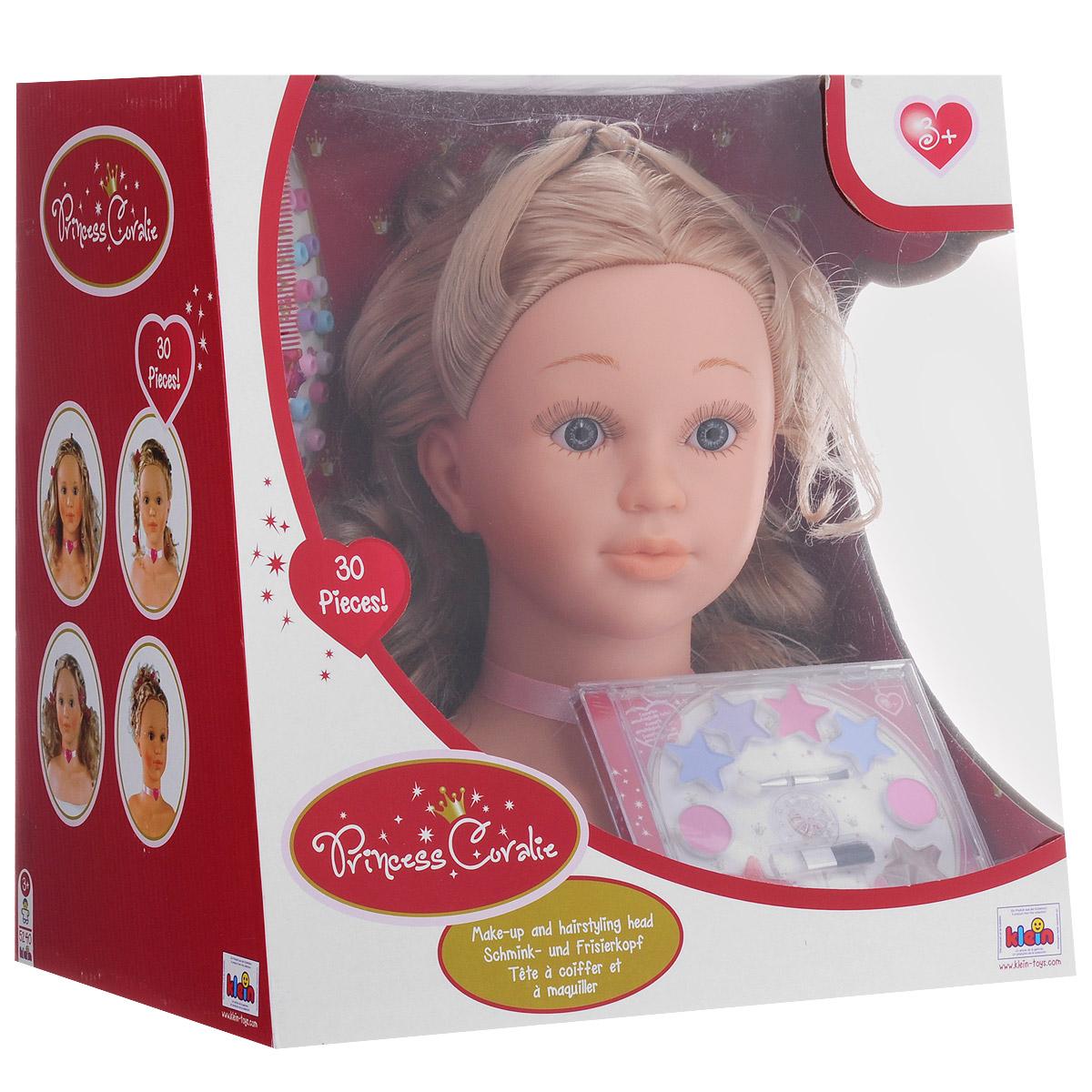 Игровой набор Klein Princess Coralie. Модель для макияжа и причесок, 30 предметов игровая кофеварка klein coralie