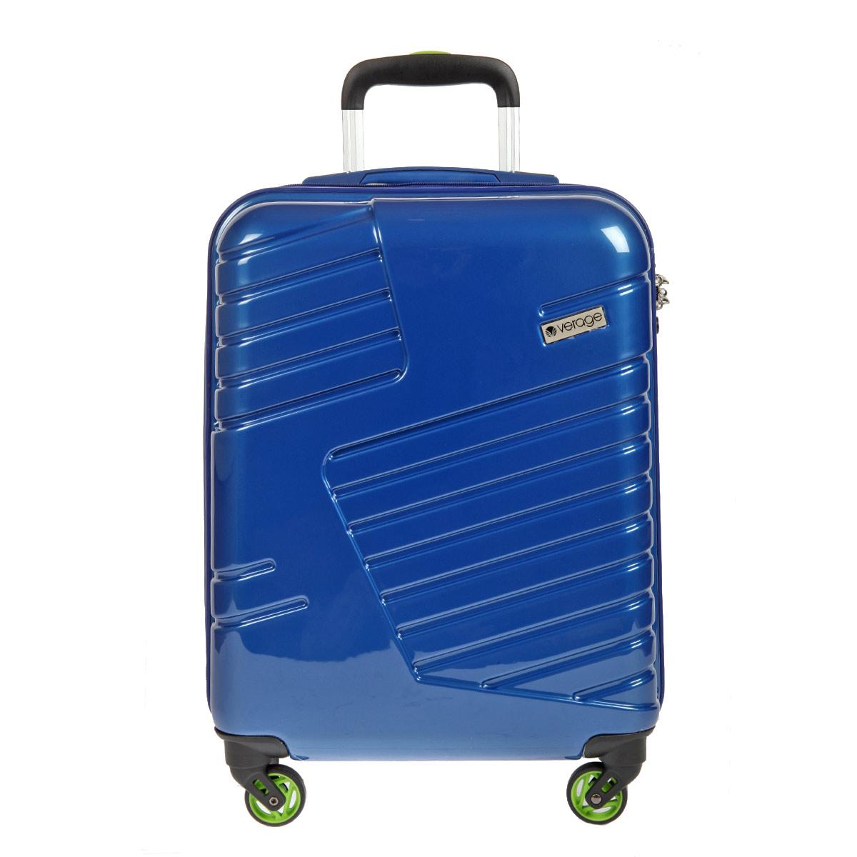 Чемодан-тележка Verage, цвет: синий, 31 л. GM14042w 20GM14042w 20 blueЧемодан-тележка Verage оснащен четырьмя колесиками, вращающимися на 360°. Закрывается по периметру на двухстороннюю молнию. Верхняя и боковая ручки обеспечивают удобство транспортировки. Внутри два отдела для одежды, которая фиксируется эластичными резинками на застежках. Также внутри расположен один сетчатый карман на застежке-молнии. Встроенный кодовый замок с функцией TSA. Чемодан оснащен выдвижной ручкой, максимальная высота которой 57 см.