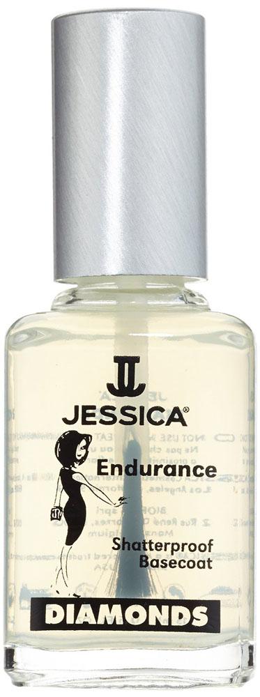 Jessica Базовое покрытие с брилиантовым порошком DIMONDS Endurance 15 мл jessica phenom цветное покрытие vivid colour exquisite 36 15 мл