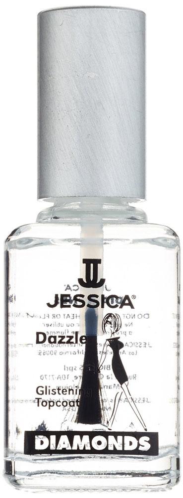 Jessica Закрепитель с бриллиантовым порошком DIMONDS Dazzle 15 млUP 146Закрепитель с бриллиантовым порошком. Защитная формула с бриллиантовыми частичками. Оберегает ногти от повреждений, сколови пожелтения лака. Придает маникюру непревзойденный блеск.