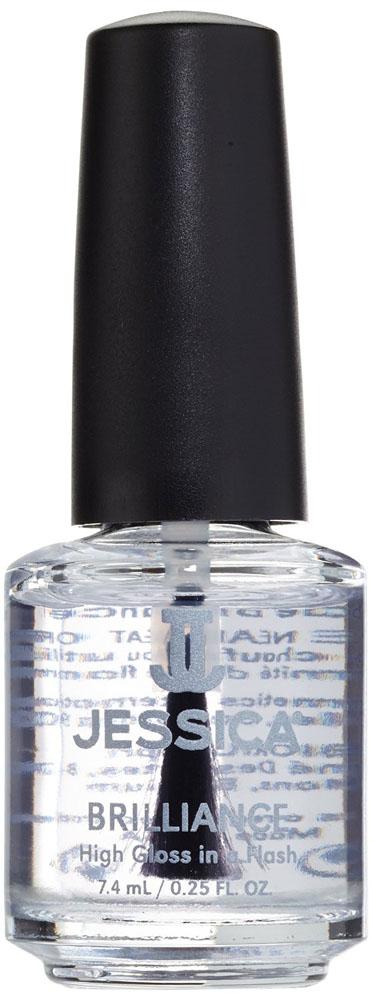 Jessica Быстросохнущее верхнее покрытие с блеском Brilliance 7,4 млUPT 170Придает непревзойденный стойкий блеск и визуальный объем лаковому покрытию. Способствует более быстрому просушиванию маникюра,усиливает сцепление слоев покрытия и защищает ногти от царапин, сколов, повреждений и выцветания.
