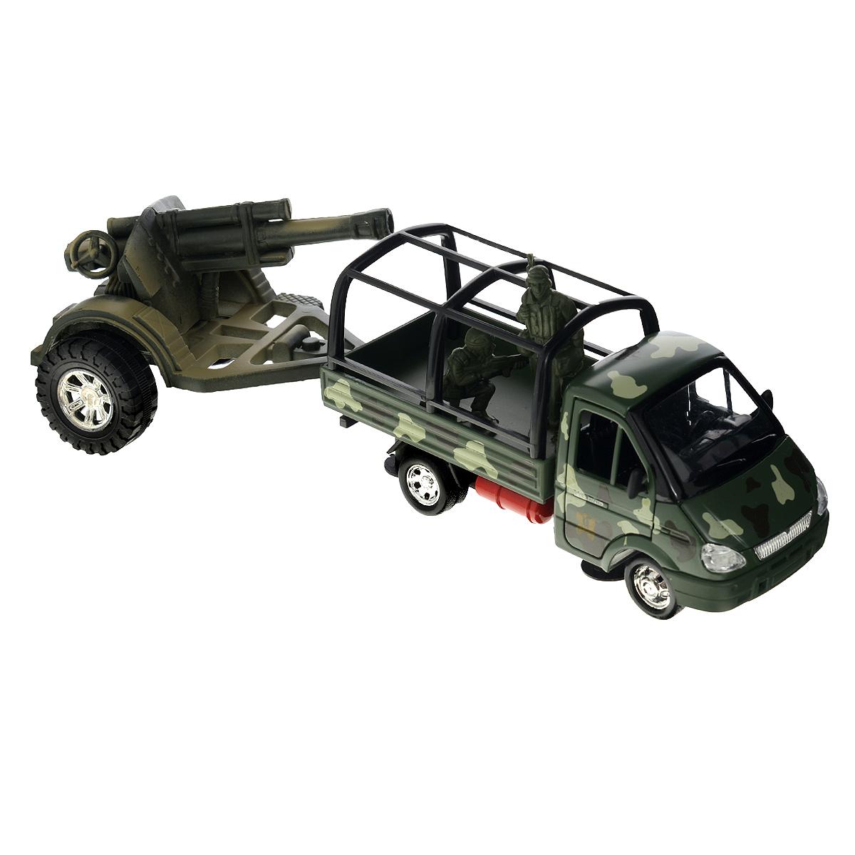 ТехноПарк Модель автомобиля Газель с пушкой женские газели купить