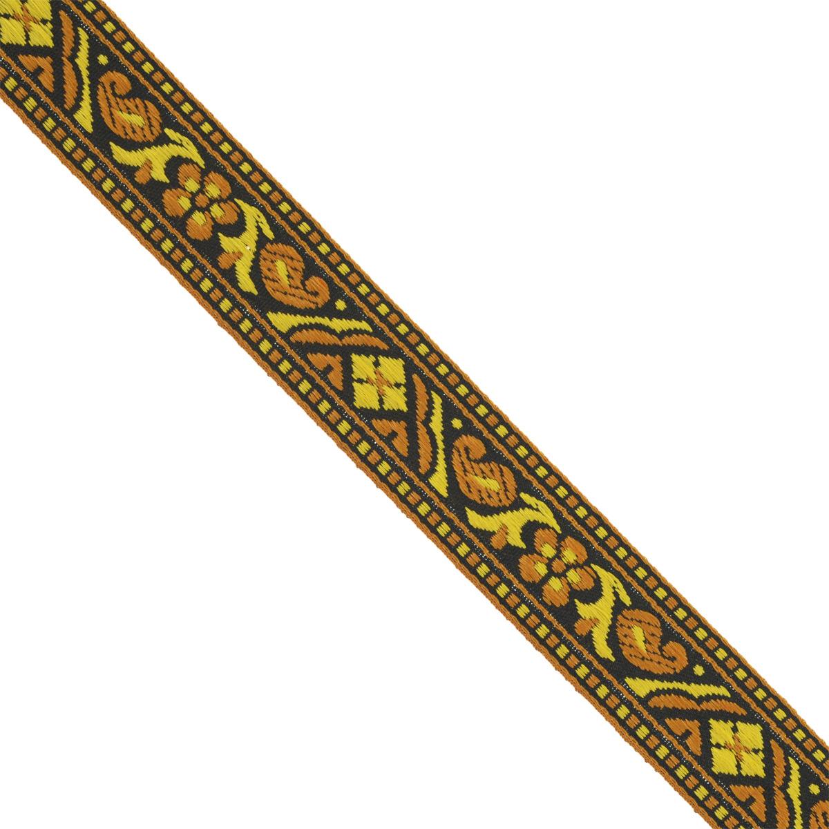 Тесьма декоративная Астра, цвет: коричневый (1), ширина 2 см, длина 16,4 м. 77032797703279_1Декоративная тесьма Астра выполнена из текстиля и оформлена оригинальным орнаментом. Такая тесьма идеально подойдет для оформления различных творческих работ таких, как скрапбукинг, аппликация, декор коробок и открыток и многое другое. Тесьма наивысшего качества и практична в использовании. Она станет незаменимым элементом в создании рукотворного шедевра. Ширина: 2 см.Длина: 16,4 м.
