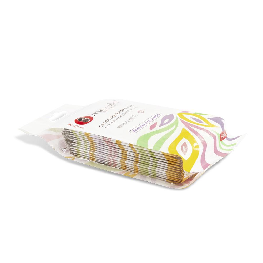 Maneki Салфетки влажные Kaiteki, для интимной гигиены с АЛОЭ и Ромашкой, в индивидуальной упаковке , 15 шт.WT1118Влажные салфетки для интимной гигиены с Алоэ и Ромашкой в индивидуальной упаковке. Не вызывают раздражения, можно брать с собой в дорогу. Ежедневный уход и комфорт. Размер салфетки 180х180 мм, в упаковке 15 листов.