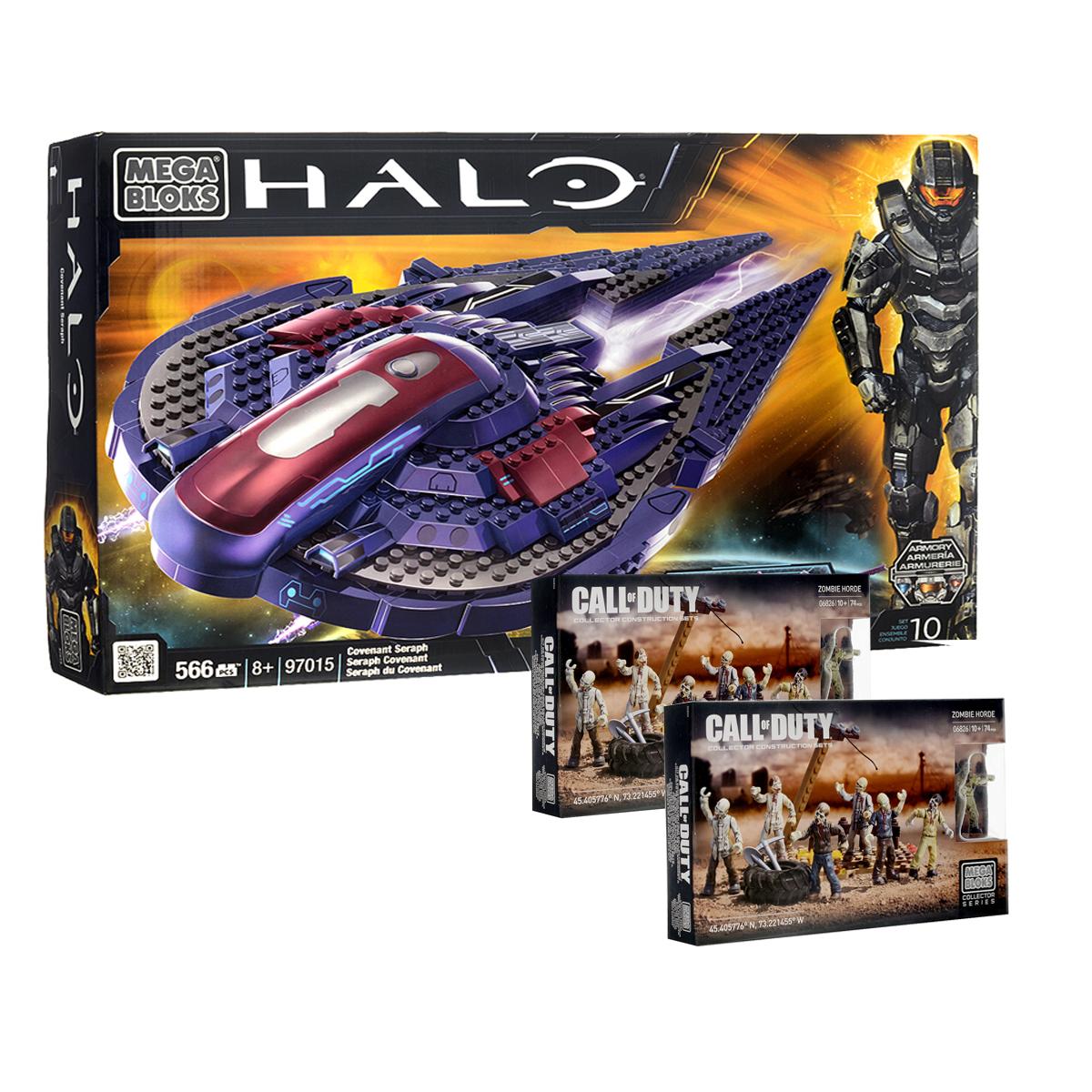 Mega Bloks Halo Конструктор Звездный истребитель + подарок набор Call of Duty пледы mona liza плед steve mona lisa classic viva