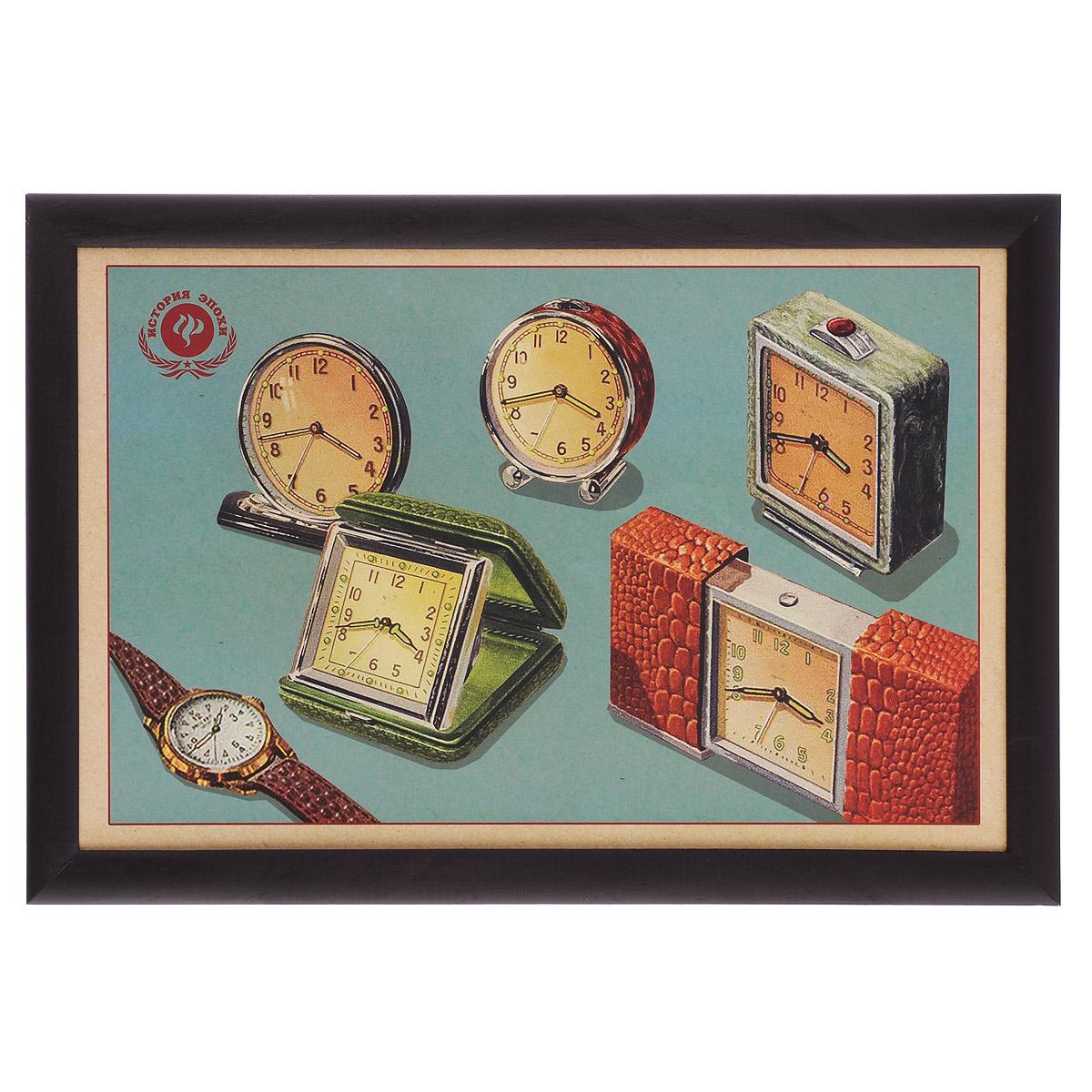 Поднос-столик Феникс-презент Ретро-часы, с мягким основанием, 41 х 28 см 3737737377Поднос-столик Феникс-презент Ретро-часы изготовлен из дерева (столешница из мдф, рамка из сосны) и оформлен оригинальным изображением часов и будильников в стиле ретро. Основание подноса выполнено в виде подушки, наполненной пенополистиролом. Такой поднос очень функционален: его можно использовать в качестве подноса для еды или подставки для ноутбука. Он удобно и устойчиво размещается на коленях или диване, так как подушка столика принимает форму поверхности.Размер подноса-столика: 41 см х 28 см х 5 см.Внутренний размер подноса: 37 см х 23,5 см.