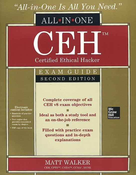 CEH Certified Ethical Hacker All-in-One Exam Guide (+ CD-ROM) david coleman d cwna certified wireless network administrator official study guide exam pw0 104