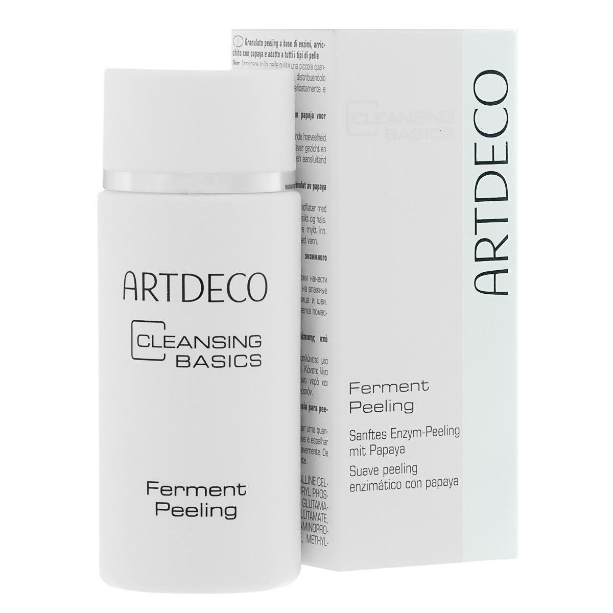 ARTDECO Ферментный пилинг Pure Minerals Ferment Peeling, 30 г6806Нежная пена для пилинга мягко удаляет отмершие частицы кожи и придает коже свежесть и гладкость. Пена отлично подходит для ухода за кожей, склонной к акне и покраснениям, так как не содержит отшелушивающих гранул. Продукт очень экономичен в использовании. Подходит для всех типов кожи. Содержит папаин (фермент, полученный из плодов папайи).