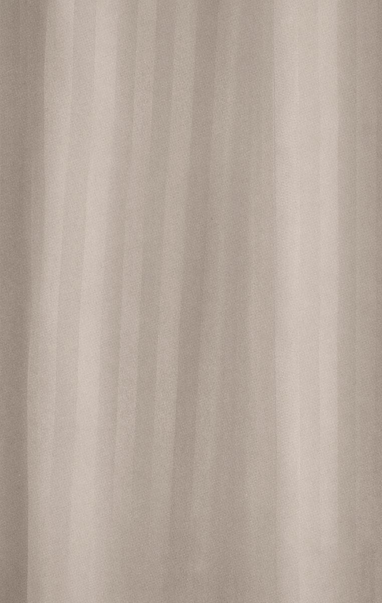 Штора для ванной комнаты White Fox Полоска, цвет: капучино, 180 х 200 смWBCH10-302Штора для ванной комнаты White Fox Полоска выполнена из полиэстера с водоотталкивающей и антибактериальной пропиткой. В нижний край вшит утяжелитель змейка, который обладает большой гибкостью и не теряет своих свойств после стирки. Штора оформлена узором в полоску. В комплекте прилагаются 12 фигурных пластиковых колец в форме С.Штора для ванной комнаты White Fox Полоска удобна и проста в уходе. Можно стирать при температуре не выше +30°C и гладить при температуре до +110°C.Штора для ванной комнаты является прекрасным украшением для ванной комнаты и надежной защитой от разбрызгивания воды.