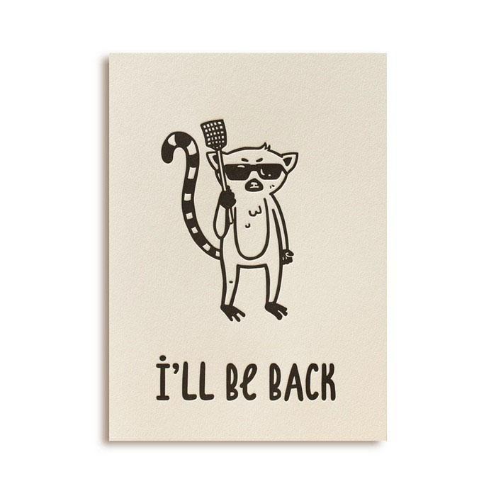 """Открытка """"I'll Be Back"""". Автор Светлана Ломакина"""