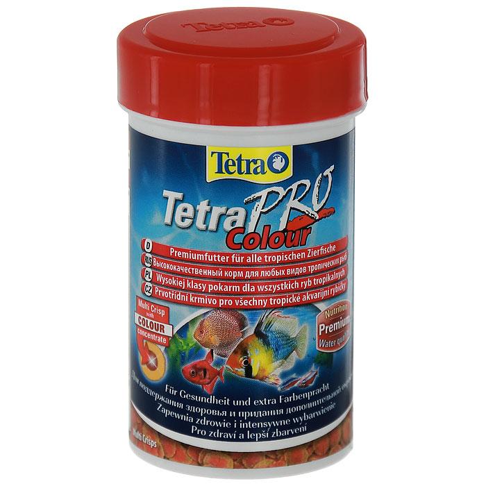 Корм сухой Tetra TetraPro. Colour для всех видов тропических рыб, чипсы, 250 мл (55 г)140677Полноценный высококачественный корм Tetra TetraPro. Colour для всех видов тропических рыб разработан для поддержания здоровья и придания дополнительной энергии. Особенности Tetra TetraPro. Colour:- щадящая низкотемпературная технология изготовления для высокой питательной ценности и стабильности витаминов;- цветовой концентрат для превосходной природной окраски;- инновационная форма чипсов для минимального загрязнения воды отходами;- идеально подходит для любых видов разноцветных рыб;- легкое кормление. Рекомендации по кормлению: кормить несколько раз в день маленькими порциями.Состав: рыба и побочные рыбные продукты, зерновые культуры, экстракты растительного белка, дрожжи, моллюски и раки, масла и жиры, водоросли.Аналитические компоненты: сырой белок - 46%, сырые масла и жиры - 12%, сырая клетчатка - 3%, влага - 9%.Добавки: витамины, провитамины и химические вещества с аналогичным воздействием, витамин А 29810 МЕ/кг, витамин Д3 1860 МЕ/кг, Л-карнитин 123 мг/кг. Комбинации элементов: Е5 Марганец 67 мг/кг, Е6 Цинк 40 мг/кг, Е1 Железо 26 мг/кг. Красители, консерванты, антиоксиданты.Товар сертифицирован.