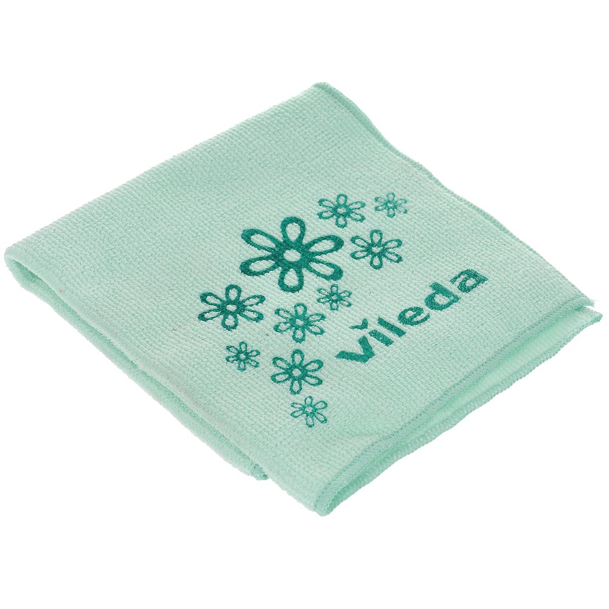 Салфетка универсальная Vileda Микрофибра, цвет: зеленый, 32 х 32 см салфетка универсальная vileda микрофибра цвет розовый 32 х 32 см