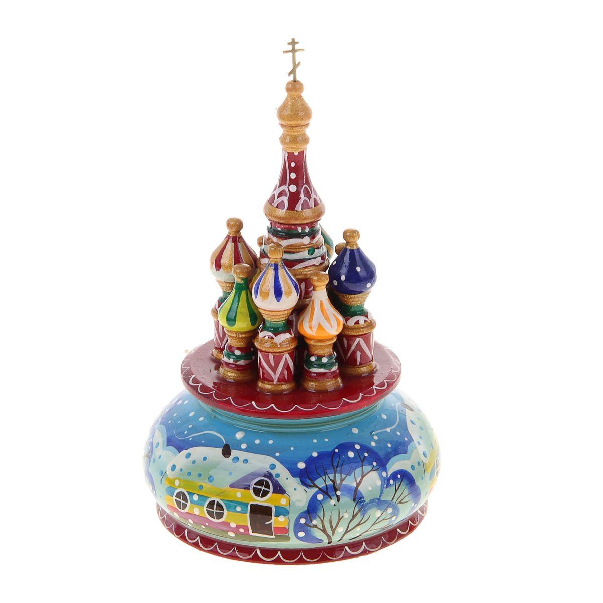 Фигурка декоративная Sima-land Храм, музыкальная, высота 21 см. 1079916 фигурка декоративная sima land мишка высота 18 см