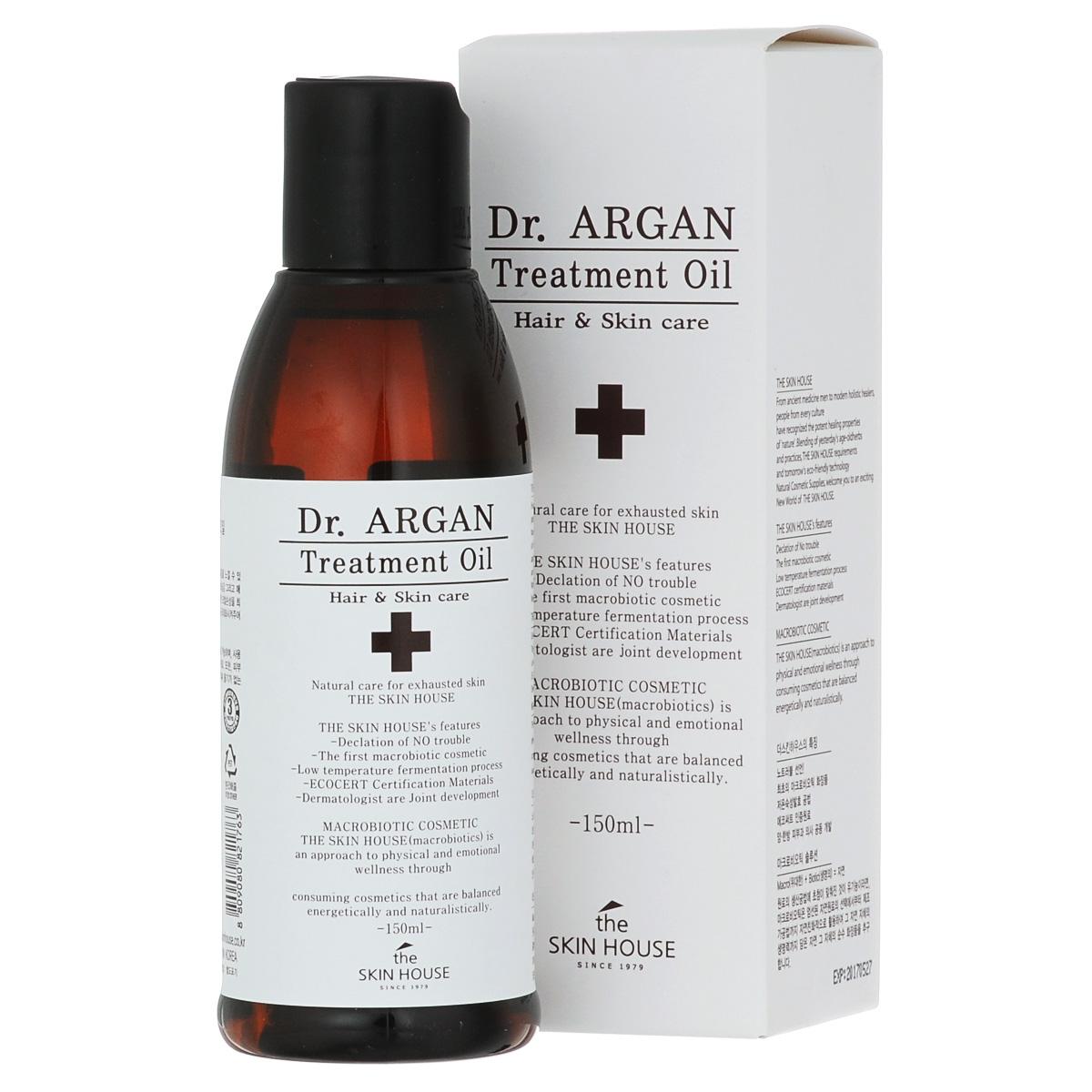 The Skin House Масло арганы для восстановления волос DR. Argan treatment oil, 150 млУТ000001222Увлажняющая эссенция, не склеивающая волосы! Восстанавливающее масло Dr. Argan является многофункциональным средством, котороезащищает поврежденные и окрашенные волосы, а так же кожу головы. Способствует обновлению клеток кожи, а так же увлажняет, заметноулучшая внешний вид волос. Защищает волосы от агрессивных факторов внешнего воздействия, а так же делает их шелковистыми и сильными.Смягчает волосы и придает им сияние.Состав: Dimethicone, Cyclomethicone, Dimethicone, Cyclopentasiloxane, Isopropyl Myristate, Dimethicone, Phenyl Trimethicone, Hexyl Laurate, Argania SpinosaKernel Oil, Fragrance, Ethylhexyl Methoxycinnamate, Rosa Canina Fruit Oil, Simmondsia Chinensis (Jojoba) Seed Oil, Camellia Japonica Seed Oil, Phenoxyethanol