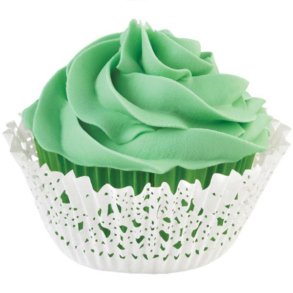 Набор бумажных форм для кексов Wilton, цвет: белый, зеленый, диаметр 7 см, 48 предметов