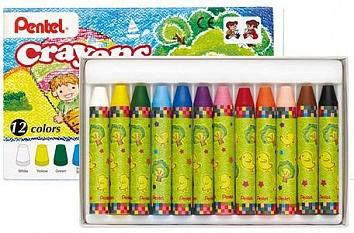 Мелки восковые Pentel Crayons, 12 цветовGTC-12Восковые мелки Pentel Crayons созданы специально для самых маленькиххудожников. Мелки обеспечивают удивительно мягкое письмо, не ломаются. Визготовлении мелков использовалисьабсолютно безопасные натуральные материалы. Мелки имеют яркие, насыщенные цвета, которые так нравятся малышам.Желтый, белый, зеленый, голубой, синий, фиолетовый, розовый, красный,оранжевый, светло-оранжевый, коричневый, черный - восковые мелки позволятсоздавать малышу на бумаге самые красочные рисунки. Восковые мелки Pentel Crayons помогают детям развивать мелкуюмоторику рук, координацию движений, воображение и творческое мышление,стимулируют цветовое восприятие, а также способствуют самовыражению. В наборе - 12 мелков.Количество цветов: 12. Длина мелка: 7 см.