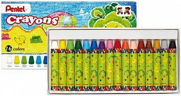 Мелки восковые Pentel Crayons, 16 цветовGTC-16Восковые мелки Pentel Crayons созданы специально для самых маленьких художников. Мелки обеспечивают удивительно мягкое письмо, не ломаются. В их изготовлении использовались абсолютно безопасные натуральные материалы.Восковые мелки Pentel Crayons помогают детям развивать мелкую моторику рук, координацию движений, воображение и творческое мышление, стимулируют цветовое восприятие, а также способствуют самовыражению. В наборе - 16 мелков. Количество цветов: 16.Длина мелка: 7 см.