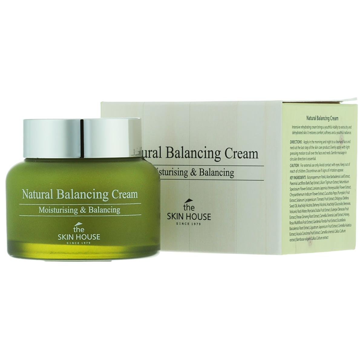 The Skin House Балансирующий крем для лица Natural balancing, 50 млУТ000001229Крем, созданный на основе органических компонентов, призван увлажнить жирную кожу и оптимизировать ее гидро-липидный баланс. Крем контролирует выработку кожного сала, сужает поры, снимает стресс и успокаивает чувствительную кожу. Смягчает и делает кожу эластичной. Высокая концентрация активных компонентов обеспечивает защиту от негативного воздействия факторов окружающей среды и поддерживает pH баланс на оптимальном уровне.