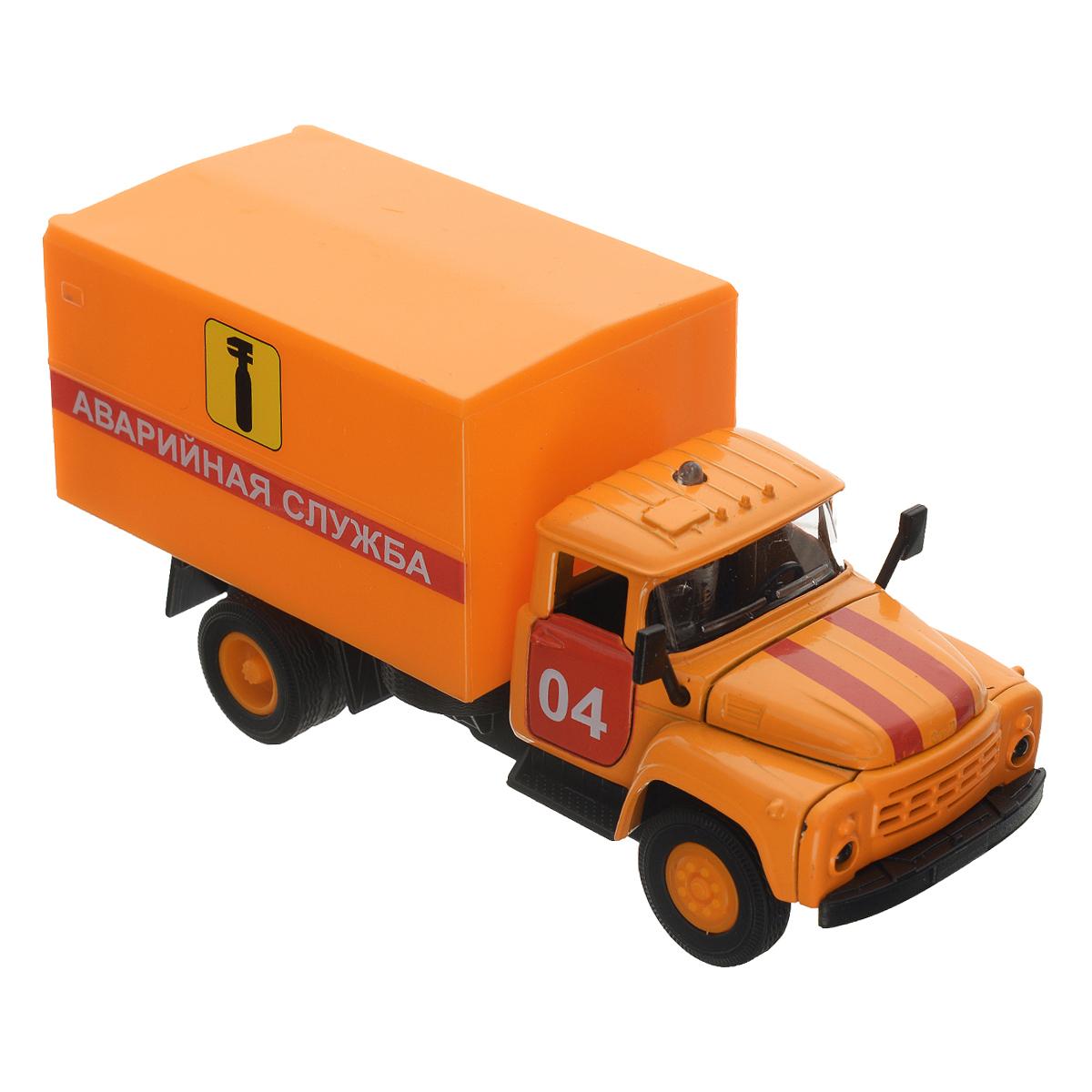 ТехноПарк Машинка инерционная ЗИЛ 130 Аварийная служба игрушка технопарк зил 130 бензовоз x600 h09131 r