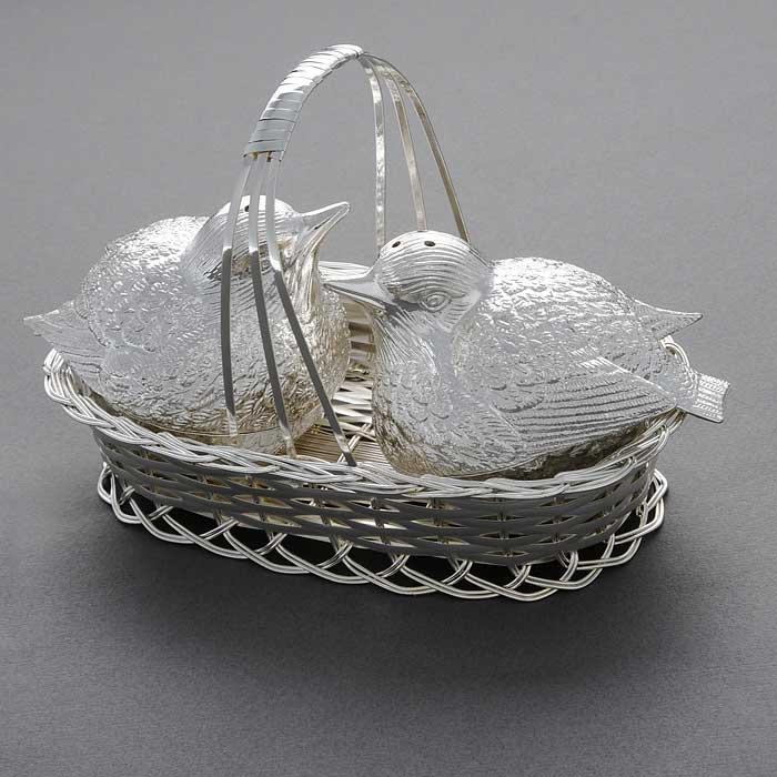 Набор для соли и перца Marquis Птицы в гнезде, 3 предмета ваза универсальная marquis 30 х 30 х 9 см