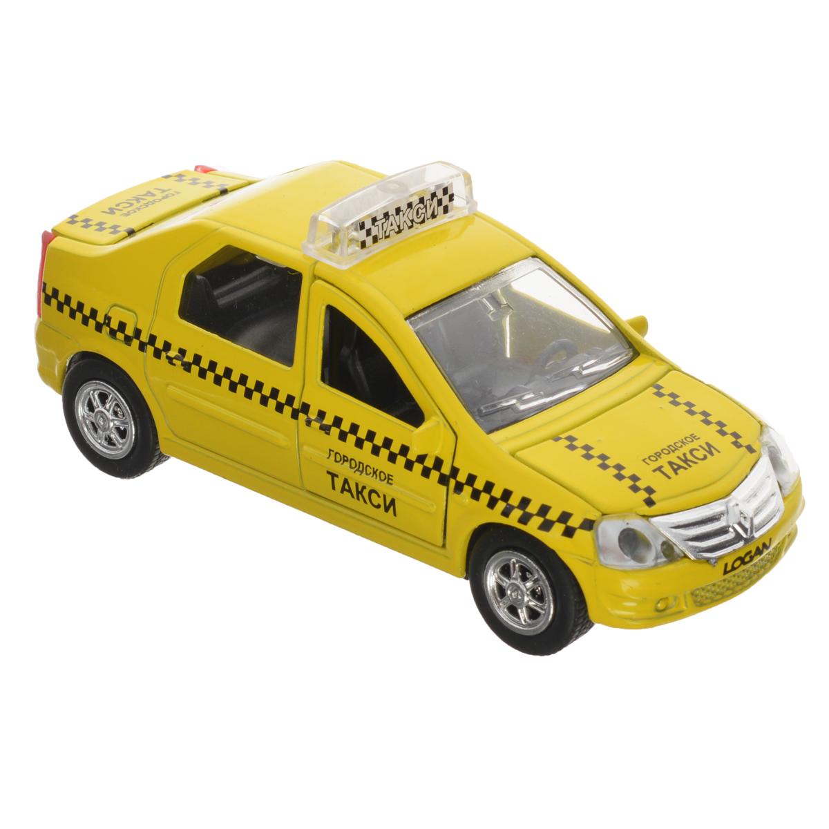 Машинка инерционная ТехноПарк Renault Logan: Такси машинка инерционная playsmart такси газ 21 1 43