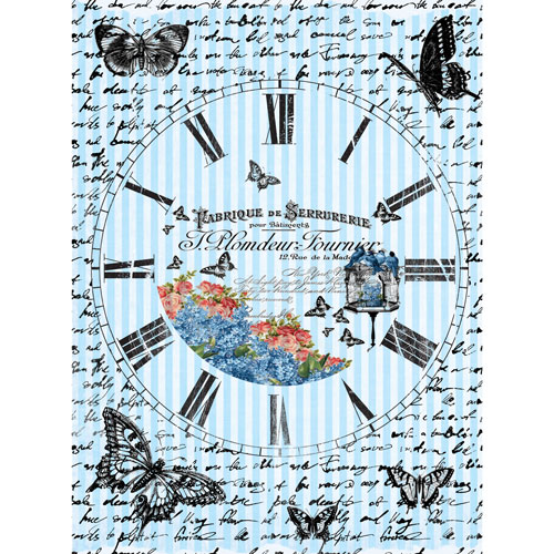 Рисовая бумага для декупажа Craft Premier Часы с бабочками, 28 х 38 смCP00539Рисовая бумага для декупажа Craft Premier Часы с бабочками - мягкая бумага с выраженной волокнистой структурой, которая легко повторяет форму любых предметов. При работе с этой бумагой вам не потребуется никакой дополнительной подготовки перед началом работы. Вы просто вырезаете или вырываете нужный фрагмент и хорошо проклеиваете бумагу на поверхности изделия. Рисовая бумага для декупажа идеально подходит для стекла. В отличие от салфеток, при наклеивании декупажная бумага практически не рвется и совсем не растягивается. Клеить ее можно как на светлую, так и на темную поверхность. Для новичков в декупаже это очень удобно и гарантируется хороший результат. Поверхность, на которую будет клеиться декупажная бумага, подготавливают точно так же, как и для наклеивания салфеток, распечаток и т.д. Мотив вырезаем точно по контуру и замачиваем в емкости с водой, обычно не больше чем на одну минуту, чтобы он полностью впитал воду. Вынимаем и промакиваем бумажным или обычным полотенцем с двух сторон. Равномерно наносим клей на оборотную сторону фрагмента, и на поверхность предмета, с которым работаем. Прикладываем мотив на поверхность и сверху промазываем кистью с клеем легкими нажатиями, стараемся избавиться от пузырьков воздуха, как бы выдавливая их. Делать это нужно от середины к краям мотива. Оставляем работу сушиться. После того, как работа высохнет, нужно покрыть ее лаком.Декупаж - техника декорирования различных предметов, основанная на присоединении рисунка, картины или орнамента (обычного вырезанного) к предмету и далее покрытии полученной композиции лаком ради эффектности, сохранности и долговечности. Плотность: 25 г/м.