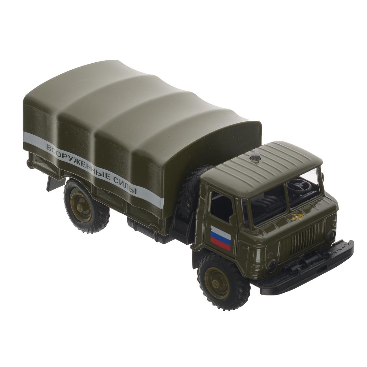 ТехноПарк Машинка инерционная ГАЗ 66 Вооруженные силы пламенный мотор машинка инерционная volvo пожарная охрана