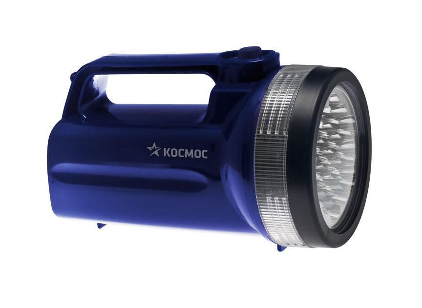 Фонарь-прожектор Космос светодиодный. КОС860LEDKOC860LED Фонарь-прожектор светодиодный Космос - это инновационный продукт, сочетающий в себе последние достижения электротехники и эргономики. Корпус фонаря выполнен из легкого, прочного и экологичного пластика. Соединение частей корпуса снабжено резиновым уплотнительным кольцом, предотвращающим попадание влаги внутрь фонаря. Фонарь снабжен эластичным ремешком. Оснащен 19 яркими и экономичными LED элементами. Характеристики:Материал: пластик, стекло, металл. Размер фонаря:10,5 см х 19,5 см х 10,5 см. Тип лампочки:LED. Количество лампочек:19 шт. Время непрерывной работы:до 50 часов. Производитель: Россия. Изготовитель: Китай. Артикул:КОС860LED. Работает от 4 батареек R20 (не входят в комплект). Космос - российский бренд электротоваров, созданный, чтобы обеспечить отечественного покупателя качественной энергосберегающей и энергоэффективной продукцией в категориях: Лампы, светильники Сезонные электротовары Элементы питания, фонари Электроустановочные изделия. Лучшие заводы шести стран мира: Россия, Украина, Белоруссия, Китай, Корея, Япония производят товары Космос на базе современных технологий.