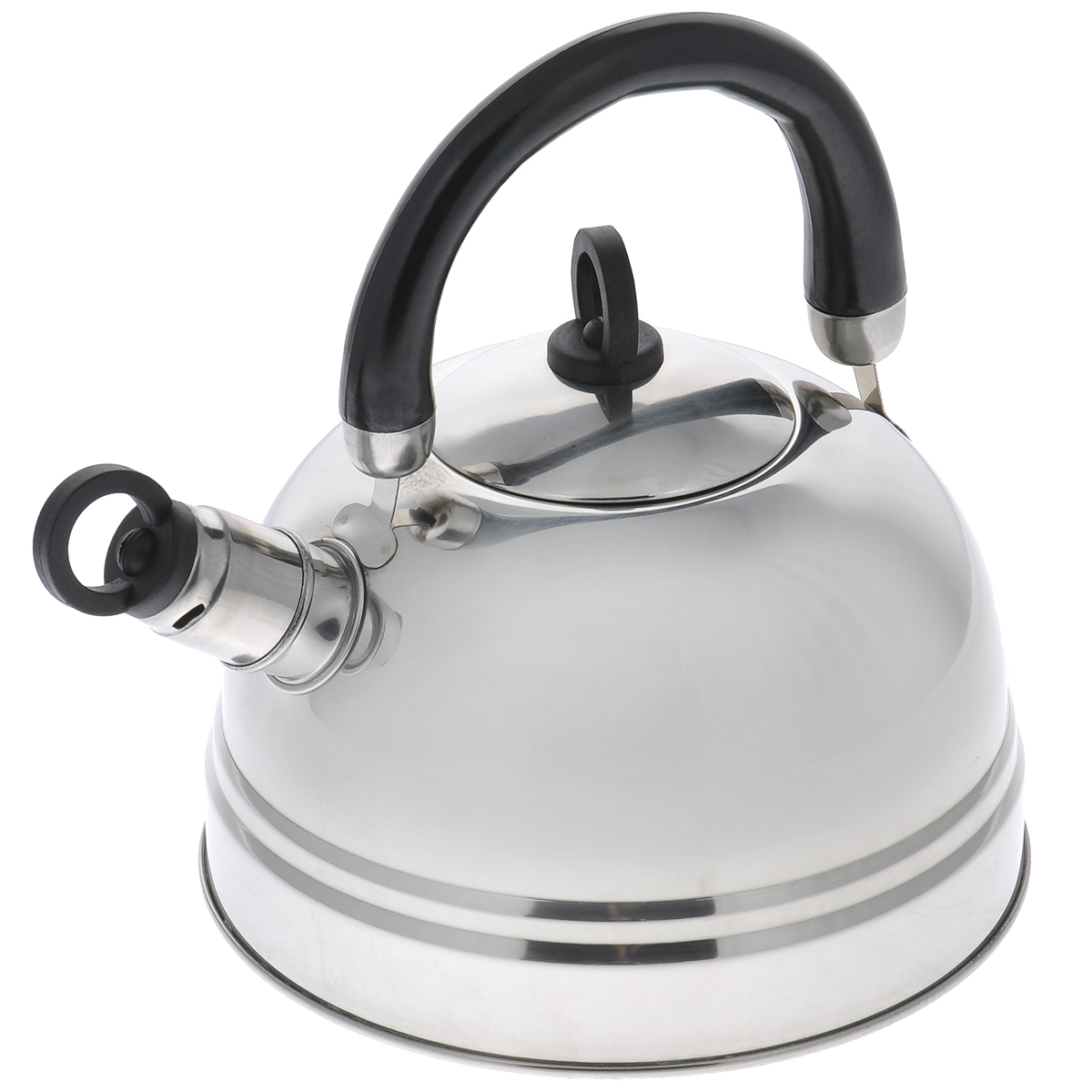 Чайник Bekker Koch, со свистком, цвет: черный, 2,5 л. BK-S367MBK-S367МчёрныйЧайник Bekker Koch изготовлен из высококачественной нержавеющей стали с зеркальной полировкой. Капсулированное дно распределяет тепло по всей поверхности, что позволяет чайнику быстро закипать. Эргономичная подвижная ручка выполнена из бакелита оригинального дизайна. Носик оснащен съемным свистком, который подскажет, когда вода закипела. Можно мыть мыть в посудомоечной машине.Толщина стенок: 0,4 мм.Высота чайника (без учета ручки): 12 см. Высота чайника (с учетом ручки): 22,5 см.