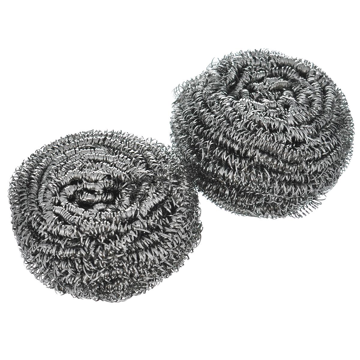 Губка для мытья посуды Vileda Inox, металлическая, 2 шт32110739Спиралевидные губки Vileda Inox изготовлены из 100% стали и предназначены для очистки металлической посуды и рабочих поверхностей от стойких загрязнений. Не рекомендуется использовать на деликатных поверхностях. Изделия не ржавеют, не колют руки, хорошо промываются под струей воды. В наборе - 2 губки.Размер губки: 6 см х 6 см х 4 см. Комплектация: 2 шт.