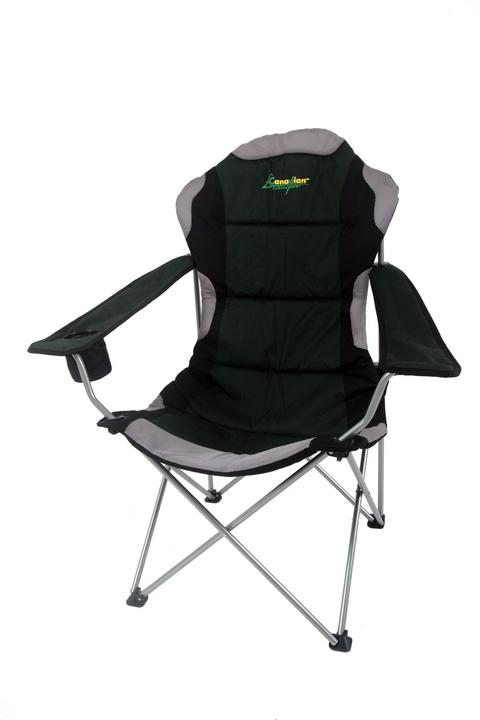 Кресло складное Canadian Camper CC-121, 65 см х 62 см х 110 см95473-366-00Canadian Camper CC-121 - комфортное складное кресло с подлокотниками. Это кресло имеет увеличенные размеры сиденья и спинки. Лучший выбор длянастоящих габаритных мужчин. В кресле CC-121 также в подлокотник встроена подставка-термос для прохладительных напитков.Комплектуется чехлом для хранения и переноски.