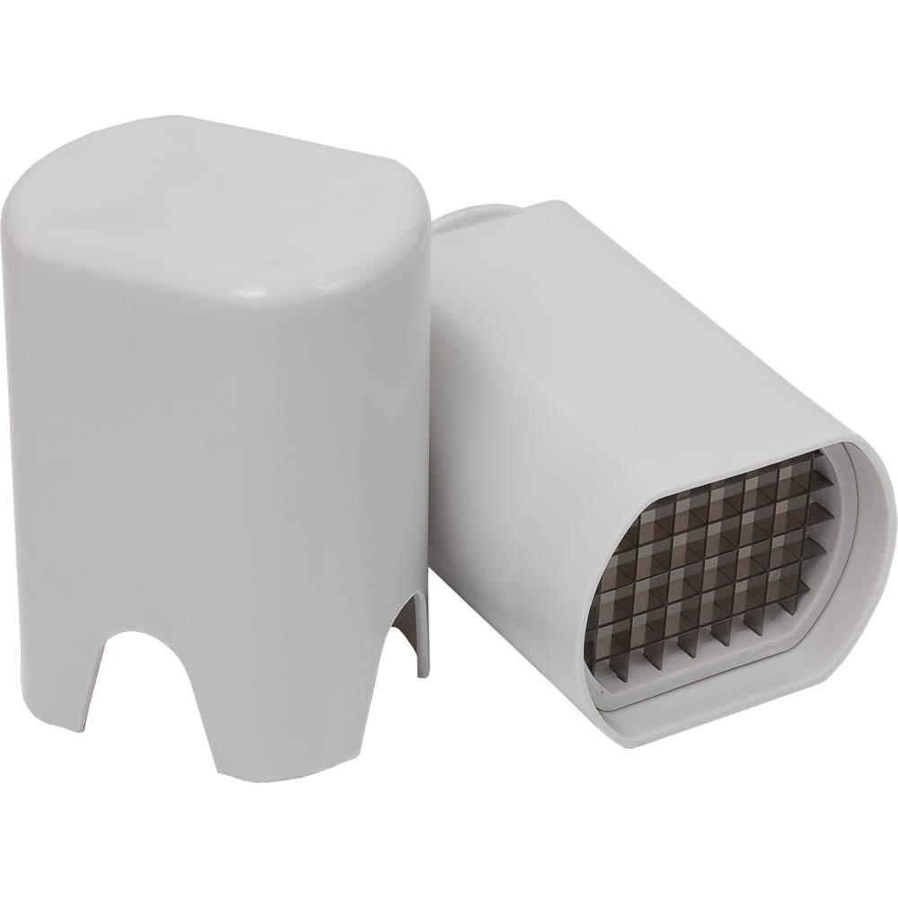 Нож для картофеля Marmiton, цвет: белый, 8 х 10 х 14 см17017Нож Marmiton изготовлен из высококачественного пластика (полипропилена) и стали. При приготовлении картофеля фри очень важно, чтобы весь картофель был нарезан ровными дольками. Нож Marmiton идеально подходит для легкой и быстрой нарезки ломтиков картофеля фри.Нож представляет собой две емкости. В конце одной - режущие лезвия, в конце другой - упор, благодаря которому и происходит процесс нарезки. Картофель зажимается между двумя емкостями и получаются ровные ломтики.Такой нож займет достойное место среди аксессуаров на вашей кухне. Размер получаемого ломтика: 1 см х 1 см. Размер рабочей поверхности: 7,5 см х 5,5 см.