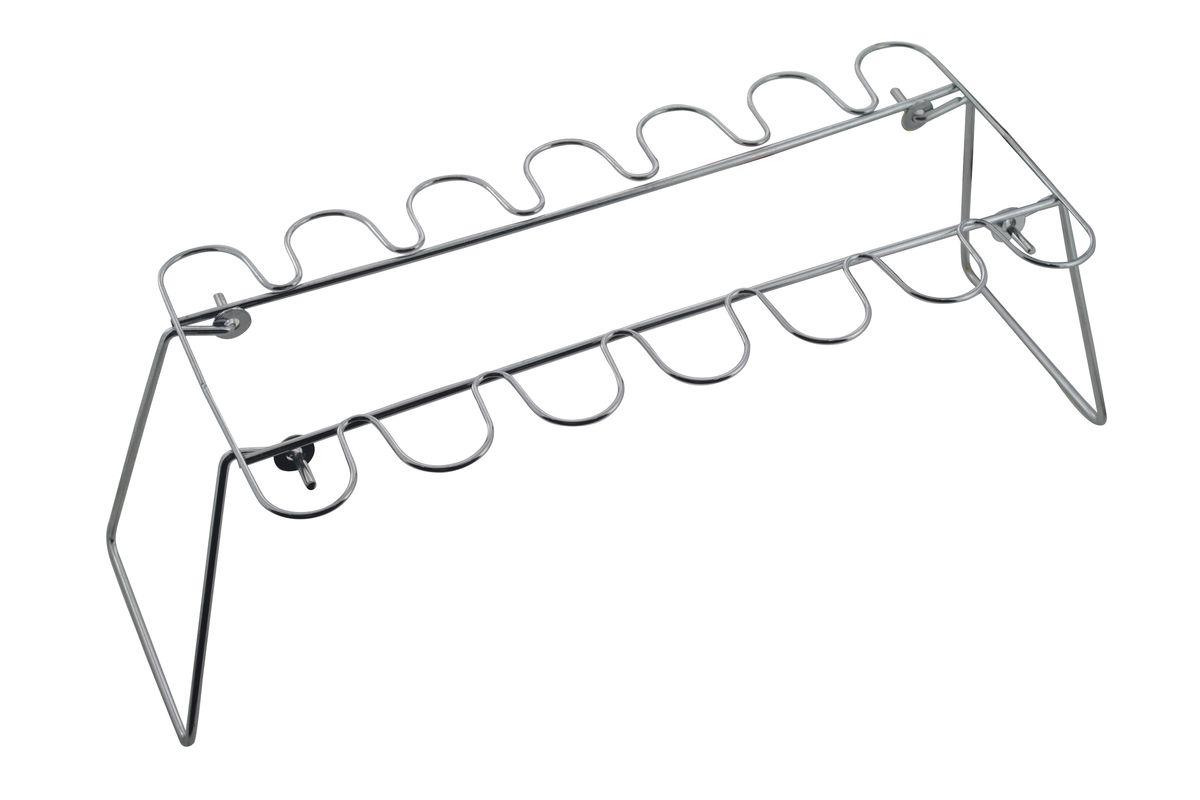 Подставка для жарки и копчения ножек птицы Marmiton, складная, 45 х 17 х 13 см17021Подставка Marmiton предназначена для жарки и копчения ножек птицы на гриле. Изготовлена из высококачественной стали с хромированным покрытием. Идеально подходит для мангалов и барбекю. Размер подставки: 45 см x 17 см х 13 см.
