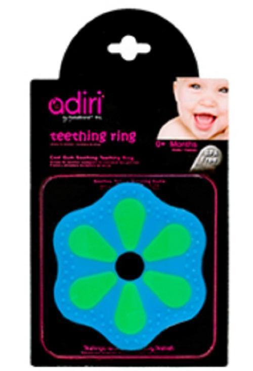 Прорезыватель для зубов Adiri Petal Teething Ring, green-cyan adiri бутылочка nxgen 2 nurser 6 9 мес 281 мл adiri blue