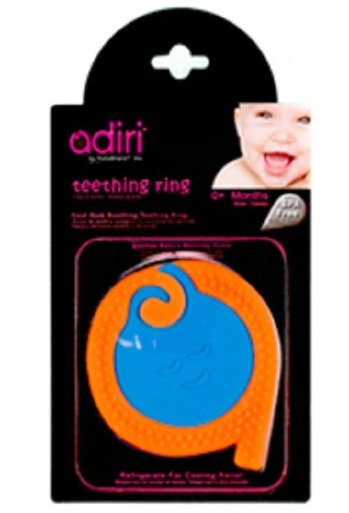 все цены на Прорезыватель для зубов Adiri A Teething Rings, cyan-orange онлайн