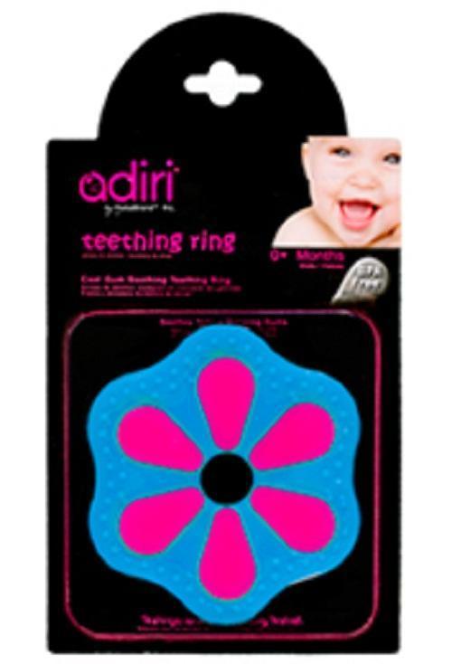 Прорезыватель для зубов Adiri Petal Teething Ring, magenta-cyan adiri бутылочка nxgen 2 nurser 6 9 мес 281 мл adiri blue