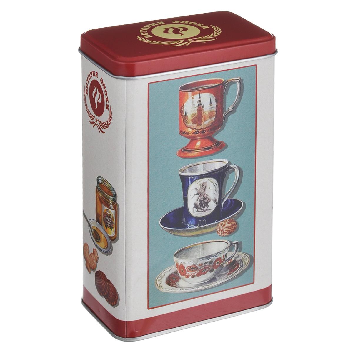Банка для сыпучих продуктов Чашки, 850 мл37615чашкиБанка для сыпучих продуктов Чашки изготовлена из металла и оснащена крышкой. Корпус банки оформлен рисунком с чашками. Изделие идеально подойдет для хранения чая, кофе, сахара или других сыпучих продуктов. Банка сохраняет продукты свежими и ароматными на длительное время. Функциональная и вместительная, такая банка станет незаменимым аксессуаром и стильно оформит интерьер кухни.Объем: 850 мл.