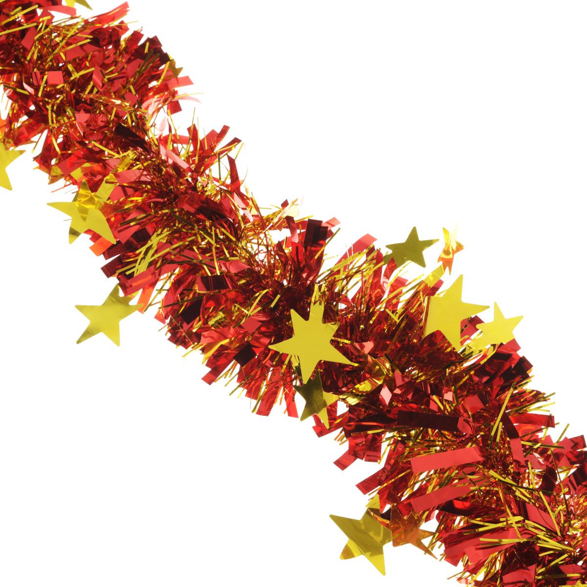 Мишура новогодняя Sima-land, цвет: золотистый, красный, диаметр 9 см, длина 2 м. 706595706595Мишура новогодняя Sima-land, выполненная из двухцветной фольги, поможет вам украсить свой дом к предстоящим праздникам. Мишура армирована, то есть имеет проволоку внутри и способна сохранять приданную ей форму. Новогодняя елка с таким украшением станет еще наряднее. Новогодней мишурой можно украсить все, что угодно - елку, квартиру, дачу, офис - как внутри, так и снаружи. Можно сложить новогодние поздравления, буквы и цифры, мишурой можно украсить и дополнить гирлянды, можно выделить дверные колонны, оплести дверные проемы. Коллекция декоративных украшений из серии Зимнее волшебство принесет в ваш дом ни с чем несравнимое ощущение праздника! Создайте в своем доме атмосферу тепла, веселья и радости, украшая его всей семьей.