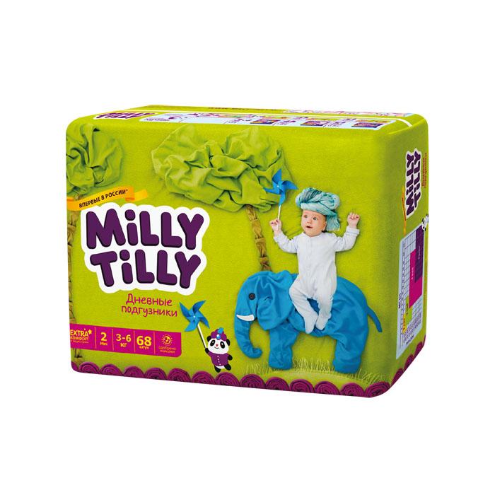 Milly Tilly Подгузники дневные  Mini , 3-6 кг, 68 шт - Подгузники и пеленки
