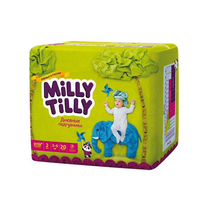Milly Tilly Подгузники дневные Mini, 3-6 кг, 20 шт tilly and friends who s hiding